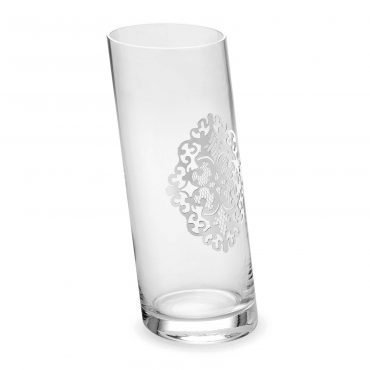 Vaso inclinato Arabesque silver