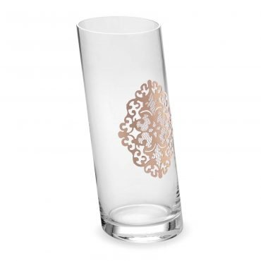 Vaso inclinato Arabesque gold rose