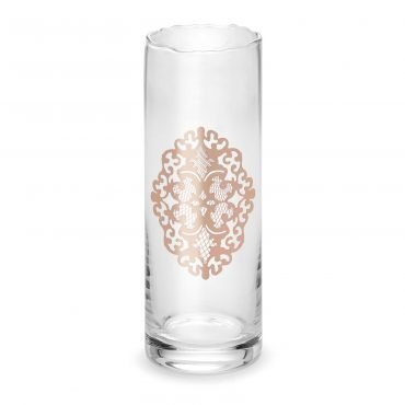Vaso merlato Arabesque gold rose